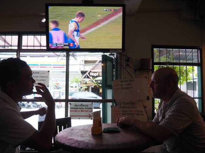 AFL in Thailand, in an Irish bar with a man from Laos